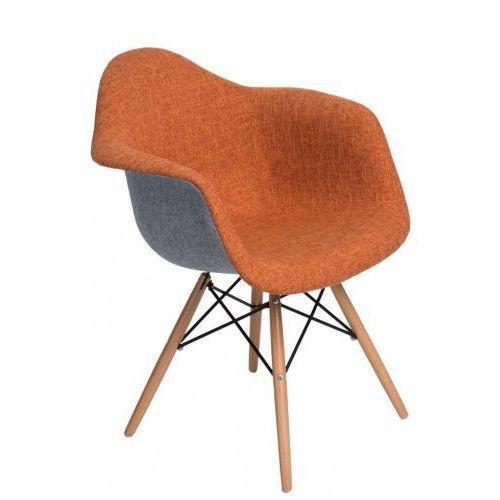 Krzesło P018 DAW Duo pomarańcz. szare (5902385707824)