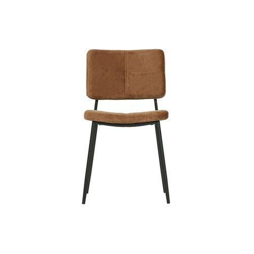 Woood zestaw 2 krzeseł kaat velvet karmelowe 373775-k