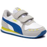 Sneakersy PUMA - Cabana Racer SL V Inf 351980 77 Puma White/Galaxy Blue, kolor wielokolorowy