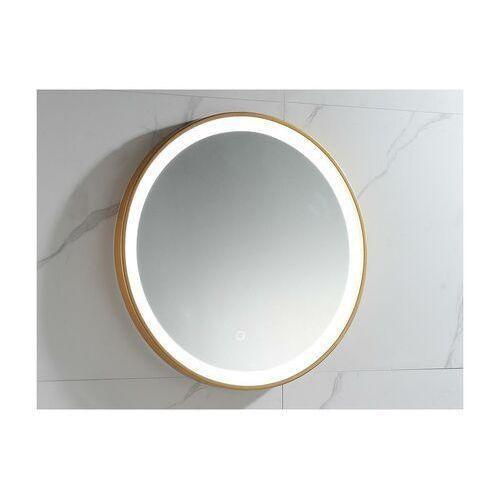 Okrągłe lustro łazienkowe z podświetleniem led numea złote - dł. 60 x wys. 60 marki Vente-unique