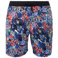 NIKE Spodnie sportowe ciemny niebieski / mieszane kolory / czerwony