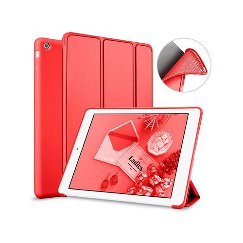 Alogy Etui smart case apple ipad air silikon czerwone - czerwony