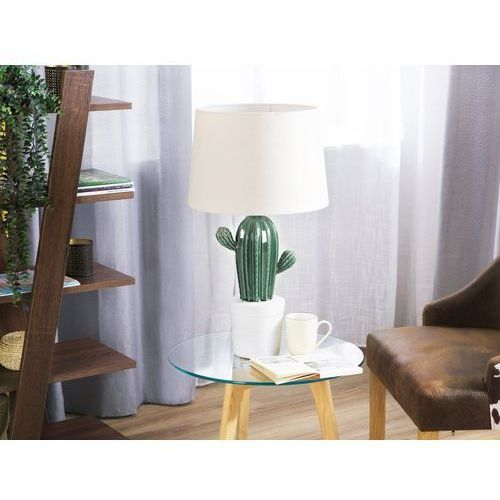 Lampa stołowa zielona/kremowa 62 cm CACTUS (4260624111452)