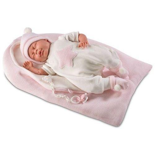 Llorens Lalka płacząca mimi w różowym śpiworku, 40 cm (8426265740284)