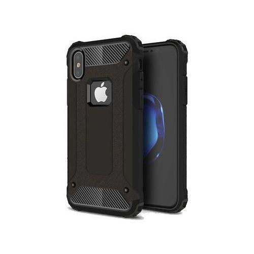 Etui pancerne apple iphone x hard armor czarne - czarny marki Alogy