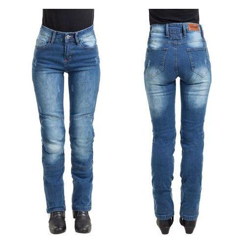 Damskie jeansowe spodnie motocyklowe W-TEC Panimali, Niebieski, L (8596084048486)
