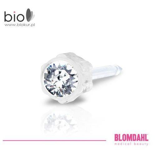 Blomdahl Kolczyk do przekłuwania uszu - crystal 4 mm