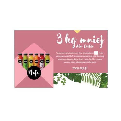 Karta podarunkowa 3 kg mniej - detoks sokowy marki Nuja
