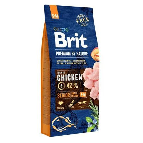 BRIT dog Premium By Nature SENIOR S+M - 2 x 15 kg, 1003556