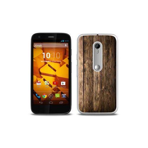 Foto Case - Motorola Moto G3 - etui na telefon Foto Case - drewniane deski (Futerał telefoniczny)