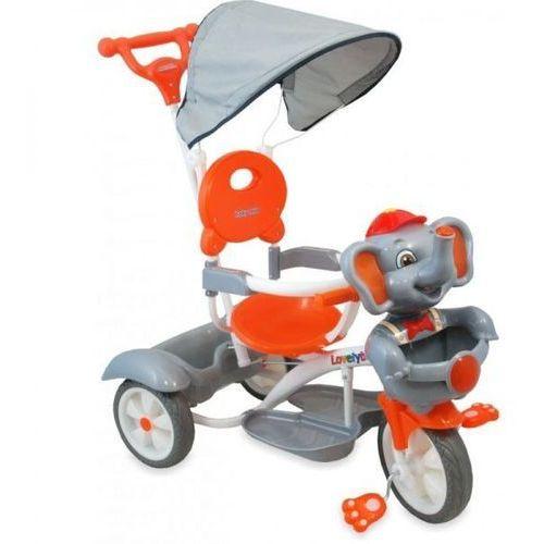 Rower trójkołowy UR-JG-870 słoń srebrny/ pakowany po 2 szt - Srebrny (5904378869489)