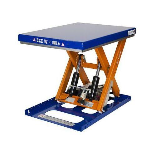 Kompaktowy stół podnośny, nośność 1000 kg, dł. x szer. platformy 900x700 mm, pod