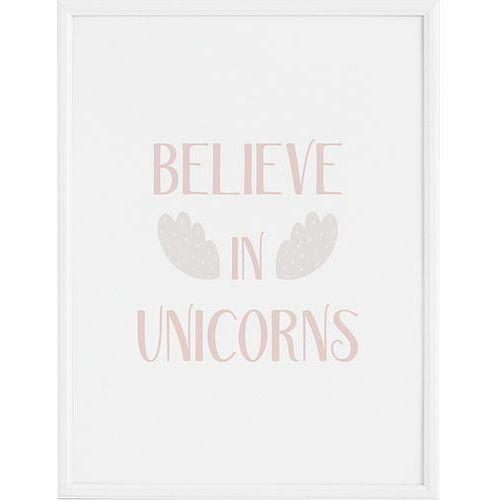 Plakat Believe in Unicorns 30 x 40 cm, FBBEL3040