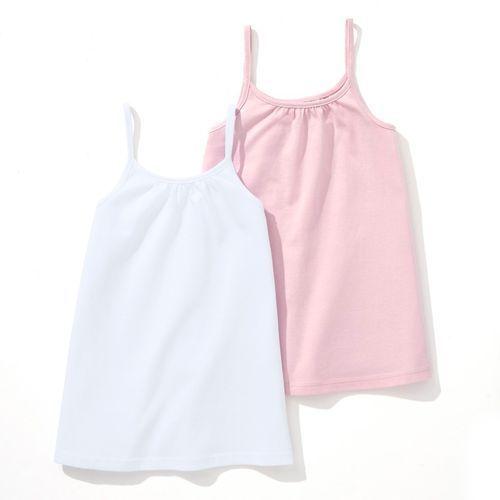 Gładka koszulka na wąskich ramiączkach 3-12 lat (komplet 2 szt.) marki R édition