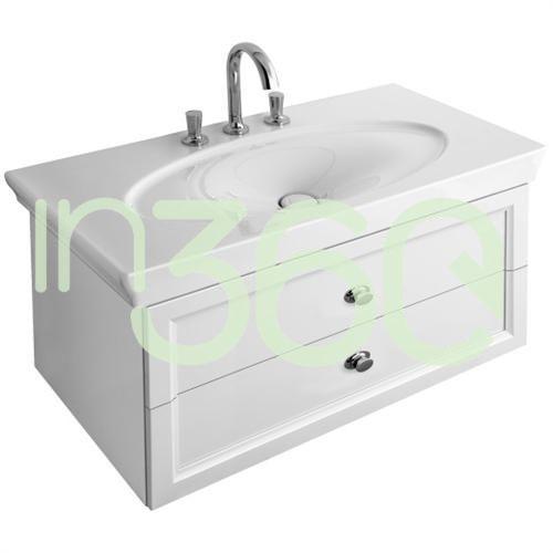 la belle szafka podumywalkowa, 900 x 435 x 480 mm, uchwyt chromowany, biel lakierowana blyszczaca a58410dj marki Villeroy & boch