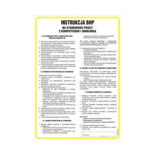 Instrukcja postępowania na stanowisku pracy z komputerem i drukarką marki Top design