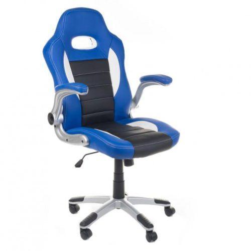 Fotel gamingowy racer bx-6923 niebieski marki Corpocomfort