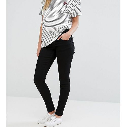 ASOS Maternity Ridley Skinny Jean In Clean Black With Under The Bump Waistband - Black, kolor czarny