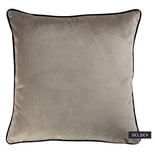 SELSEY Poduszka dekoracyjna Sylvanca w tkaninie EASY CLEAN 45x45 cm szarobrązowa (5903025413273)