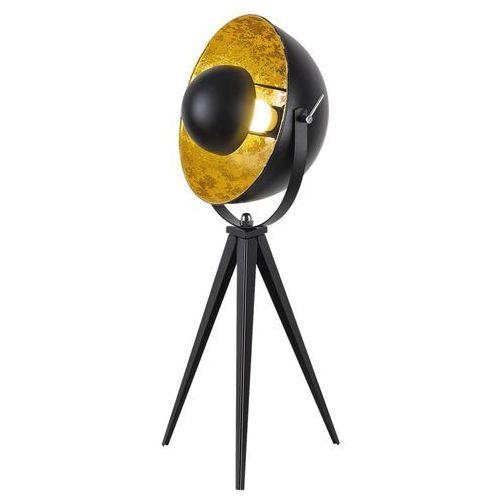 Lampa podłogowa nataniel 4139 lampa stojąca 1x25w e27 czarny / złoty marki Rabalux