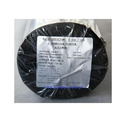 Vateks Wkład odzieżowy elastyczny e 430/150 czarny 100 mb.
