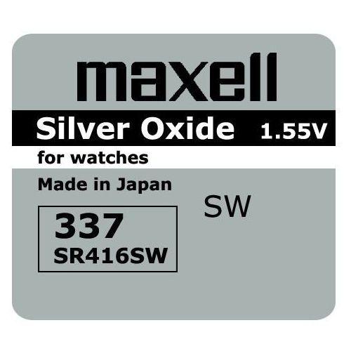 Bateria srebrowa mini 337 / sr 416 sw marki Maxell