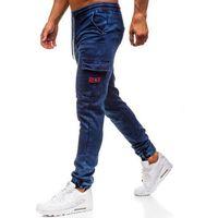 Spodnie jeansowe joggery męskie granatowe denley y271 marki Red fireball