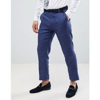 United colors of benetton wedding regular fit linen suit trousers in blue - blue