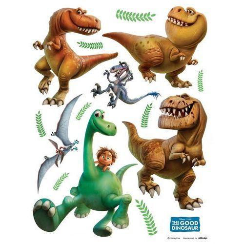Naklejka dekoracyjna dobry dinozaur, 30 x 30 cm marki 4-home