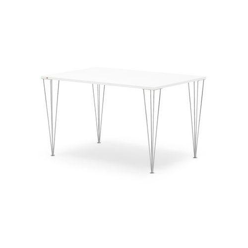Stół do jadalni ZADIE, 1400x800 mm, laminat HPL, biały, chrom, 135716
