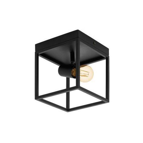 Eglo Silentina 98331 plafon lampa sufitowa oprawa 1x40W E27 czarna (9002759983314)