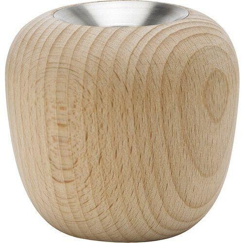 Stelton Świecznik ora 7 cm z drewna bukowego