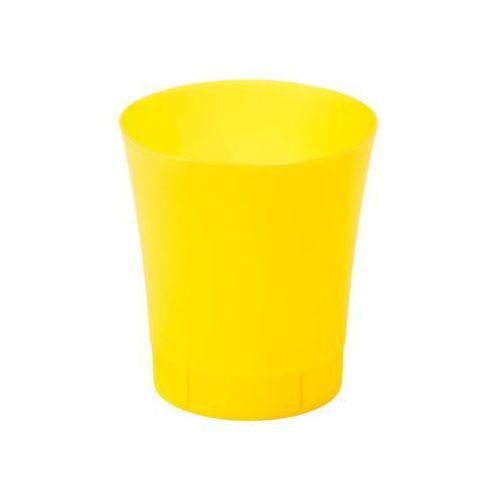 Osłonka na doniczkę 12.5 cm plastikowa żółta ORCHIDEA