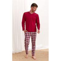 Piżama taro tymon 2456 dł/r m-2xl z'20 rozmiar: 2xl, kolor: beżowy melange, taro, 1 rozmiar