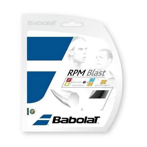 Babolat Naciąg tenis ziemny rpm blast (nadal) 1,25mm 117643 czarny 12m set (3324921176437)
