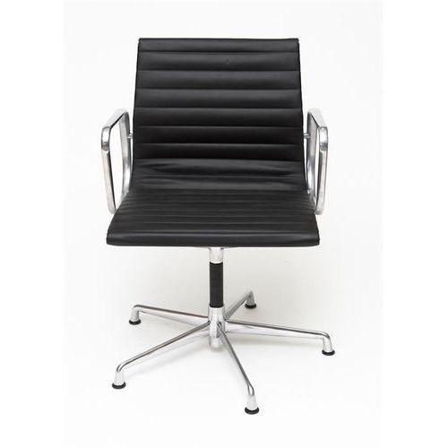 D2.design Fotel konferencyjny ch inspirowany ea108 skóra, chrom - czarny