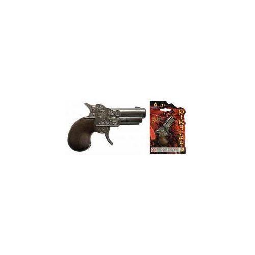 Mały metalowy pistolet pirata