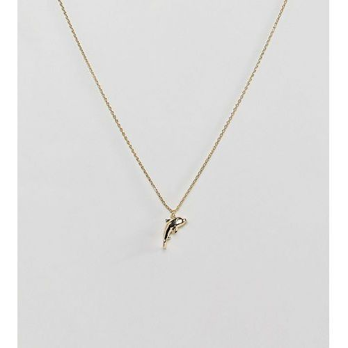 Orelia Gold Plated Dolphin Pendant Necklace - Gold