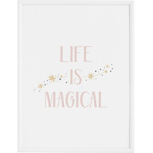 Plakat life is magical 50 x 70 cm marki Follygraph
