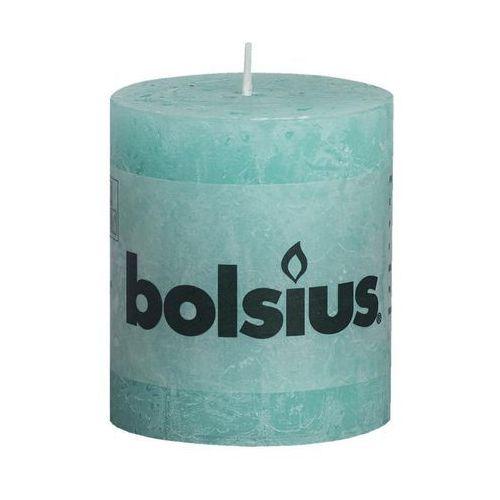 Bolsius Rustykalne świece pieńkowe, 80 x 68 mm, kolor morski, 6 szt. (8717847083814)