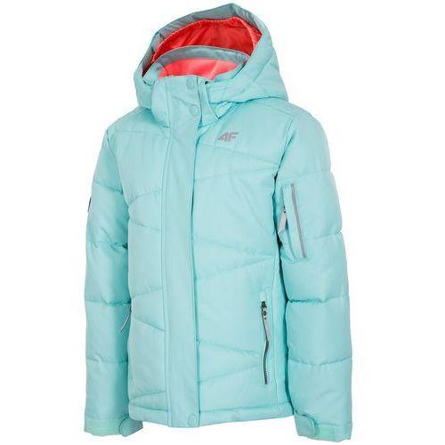 4F dziewczęca kurtka narciarska J4Z17 JKUDN301 miętowy jasny 104 - OKAZJE