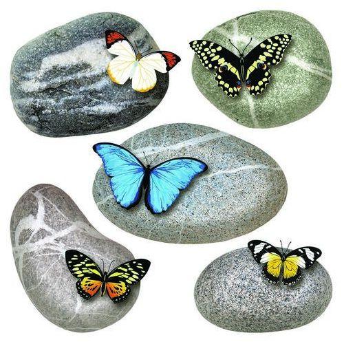Naklejka Butterflies on Stones, 30 x 30 cm (8595577938532)