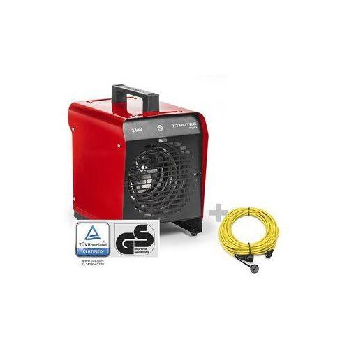 Nagrzewnica elektryczna nadmuchowa tds 19 e + przedłużacz profi 20 m / 230 v / 2,5 mm² marki Trotec