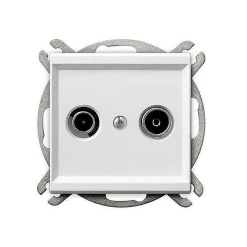 Gniazdo RTV zakończeniowe ZAK-10 biały GPA-10RPZ/m/00 SONATA (5907577444389)