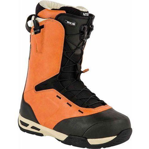 Buty snowboardowe mę  - venture tls burnt - orange - black (003) rozmiar: 10 marki Nitro