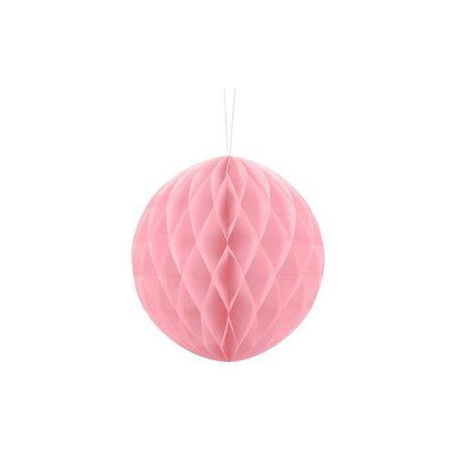 Dekoracja wisząca kula jasnoróżowa - 20 cm - 1 szt. marki Party deco