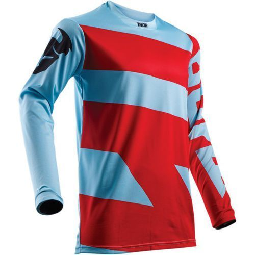 THOR BLUZA PULSE LEVEL S8 JERSEY POWDER BLUE/RED=$