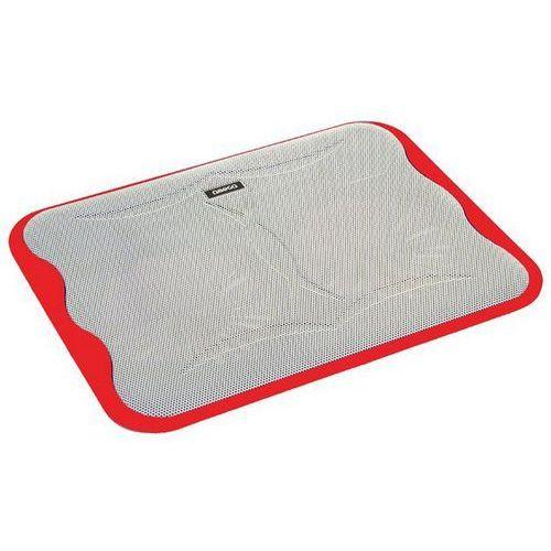 Omega Podstawka chłodząca do laptopa 17 cali ice cube (41910) czerwony