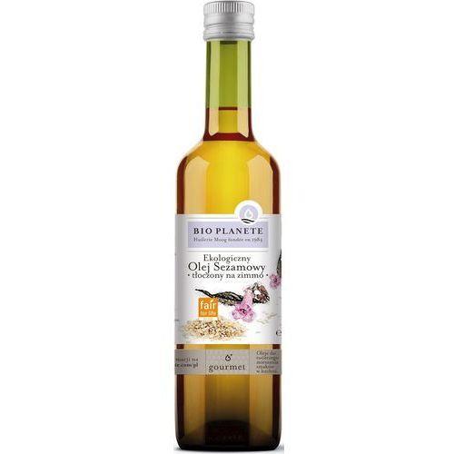 Olej sezamowy virgin bio 500 ml - bio planete marki Bio planete (oleje i oliwy)