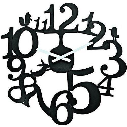 Zegar ścienny czarny pi:p kz-2327526 marki Koziol